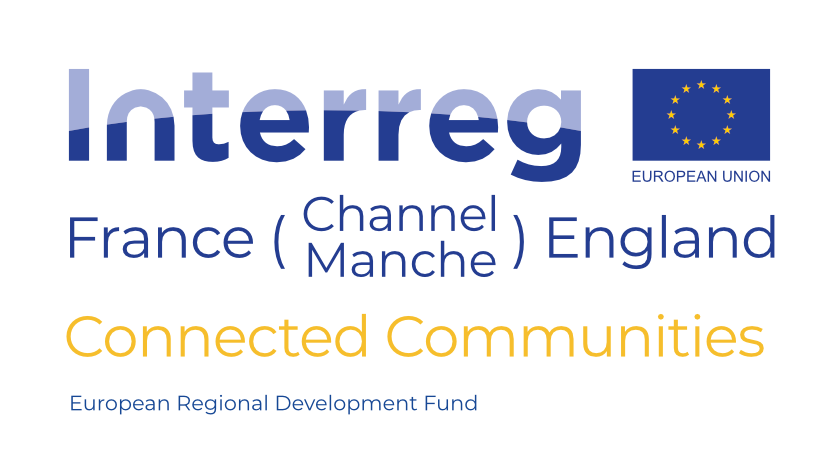 CONNECTED COMMUNITIES Logo - with ERDF